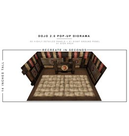 Extreme-Sets Dojo (2.0) 1/12 Scale Pop-Up Diorama