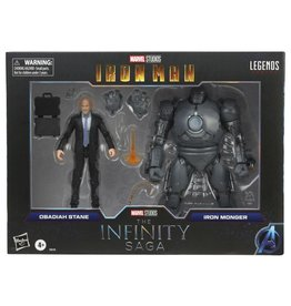 Hasbro Iron Man Marvel Legends The Infinity Saga Obadiah Stane & Iron Monger Action Figures 2-Pack
