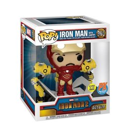 Funko Iron Man 2 Iron Man MK IV with Gantry Glow-in-the-Dark 6-Inch Deluxe Pop! Vinyl Figure - Previews Exclusive