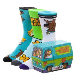 Bioworld Scooby Doo Mystery Machine 3 Pair Crew Sock Set