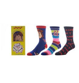 Bioworld Chucky 3 Pair Crew Sock Box Set