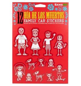 GamaGo Dia De Los Muertos Family Car Stickers