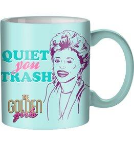 Silver Buffalo Golden Girls Quiet You Trash 20 oz. Ceramic Mug