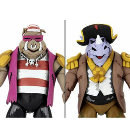 NECA TMNT: Turtles in Time Pirate Rocksteady & Bebop Two-Pack