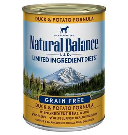 NATURAL BALANCE NB LID DCK/POT DOG 13oz