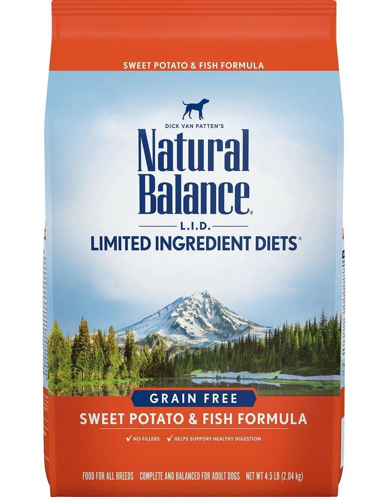 NATURAL BALANCE 4.5# LID FISH/SWT POTATO