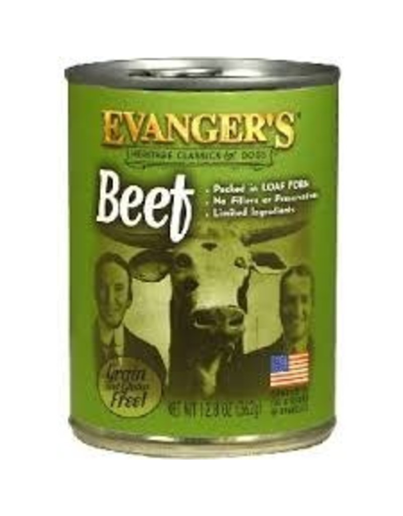 EVANGERS Evangers 13 oz Dog Can Classic 100 % Beef 12/CS