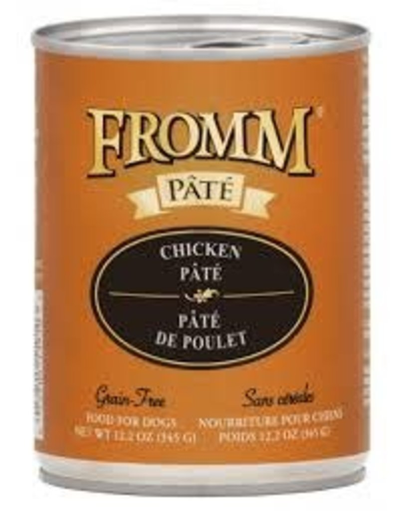 FROMM FAMILY FOODS LLC Fromm 12.2 oz Dog Can Gold  Chicken Pate GF 12/CS