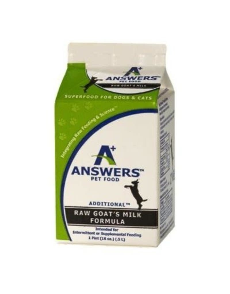 Answers pet food AS Answers Goat Milk 1 Pint