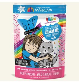 Weruva bff 3 oz Cat Pouch Tuna & Chicken Charm Me 12/SLV