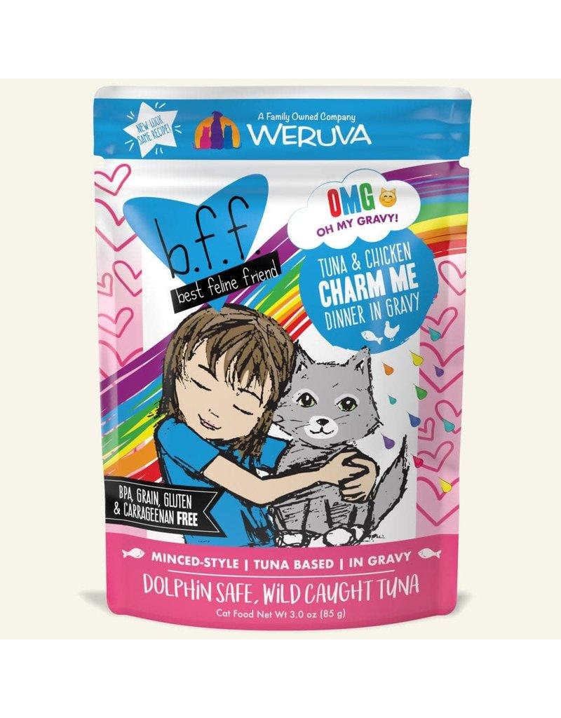 Weruva bff 3 oz Cat Pouch Tuna & Chicken Charm Me 12/SLV