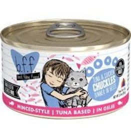 Weruva bff 5.5 oz Cat Can Tuna &  Chicken Chuckles 24/CS