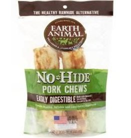 "Earth Animal Earth No-Hide Pork 4"" 2pk"