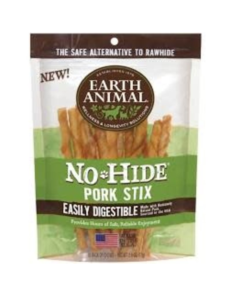 Earth Animal Earth No-Hide Pork Stix 10pk