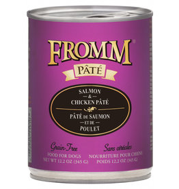 FROMM FAMILY FOODS LLC Fromm Dog Can Gold  Salmon & Chicken Pate  12oz