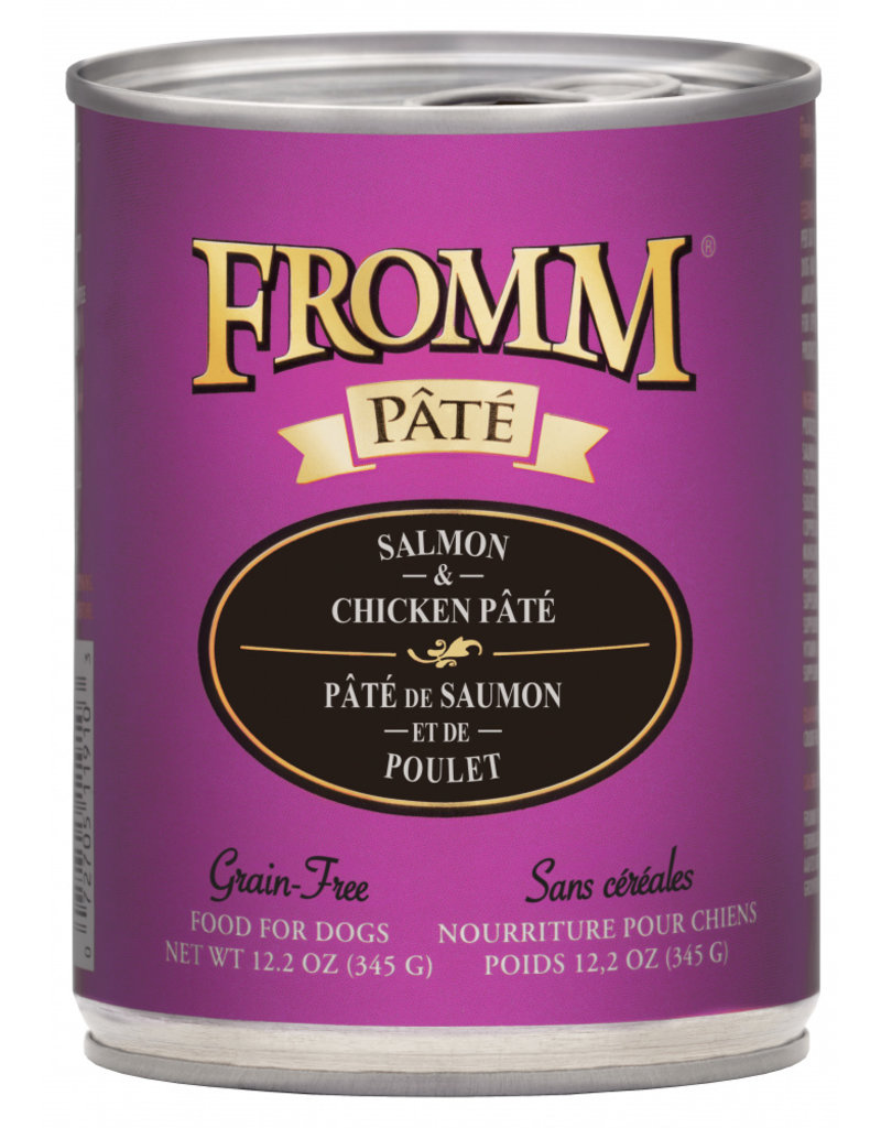 FROMM FAMILY FOODS LLC Fromm 12.2 oz Dog Can Gold  Salmon & Chicken Pate GF 12/CS