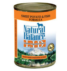 NATURAL BALANCE NB LID FISH/SWPT DOG 13oz