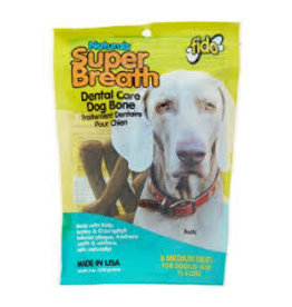 Fido Fido 8 pk Dog med Super Breath Bones EA