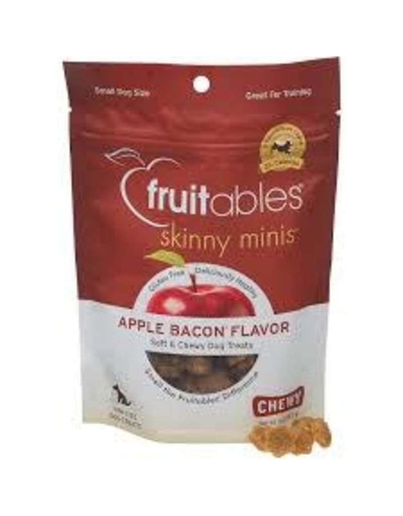 Fruitables Fruitables 5 oz Dog Apple Bacon Chewy Skinny Minis Treat EA