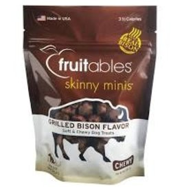 Fruitables Fruitables 5 oz Dog Grilled Bison Skinny Minis Treat EA