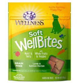 WELLNESS Wellness 6 oz Dog Well Bites  Lamb & Salmon Soft Treat GF