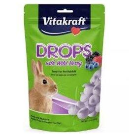SUNSEED COMPANY Vitakraft Wild Berry Drops for Rabbits 5.3oz