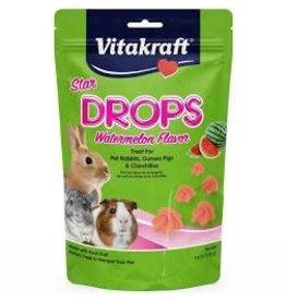 SUNSEED COMPANY Vitakraft Watermelon drops for Rabbits, Guinea Pigs & Chinchillas 4.4oz