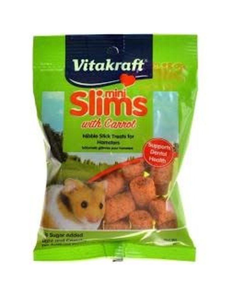 SUNSEED COMPANY Vitakraft Carrot Slims for Hamsters 1.76oz