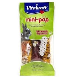 SUNSEED COMPANY Vitakraft Mini Pop Corn Cob Treats for Small Animals 6oz