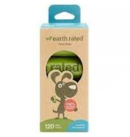Earth Rated Poop Bags Refill 8 rolls/BX 120 ct Unscented