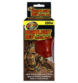 ZOO MED LABORATORIES INC NIGHTLITE RED REPTILE BULB 100W