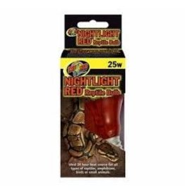 ZOO MED LABORATORIES INC NIGHTLIGHT RED REPTILE BULB 25W