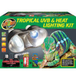 ZOO MED LABORATORIES INC TROPICAL UVB/HEAT LIGHT KIT