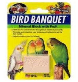 ZOO MED LABORATORIES INC SM BIRD BANQUET BLOCK FRUIT
