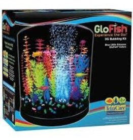 GLO-FISH GLOFISH LED HALF MOON BUBBELR KIT 3GAL