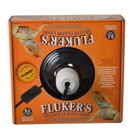 "FLUKERS 8.5"" CERAMIC REPTA-CLAMP LAMP"