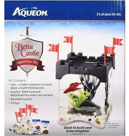 AQUEON BETTA CASTLE KIT .5GAL BLACK