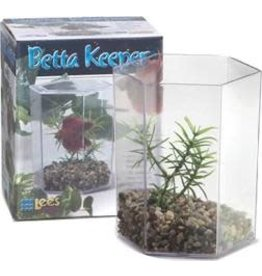 LEE'S AQUARIUM PRODUCTS LEE'S BETTA KEEPER HEX W/ LID & DECOR