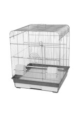 "A&E CAGE CO A&E BIRD CAGE Black/White 14""x18""x12"""