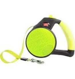 WIGZI LLC Wigzi Yellow lg Reflective Gel Retractable Leash to 110 lb EA