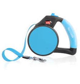 WIGZI LLC Wigzi Blue sm Gel Retractable Leash to 26 lb EA
