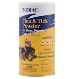 ZODIAC DOG/CAT FLEA/TICK POWDER 6Z