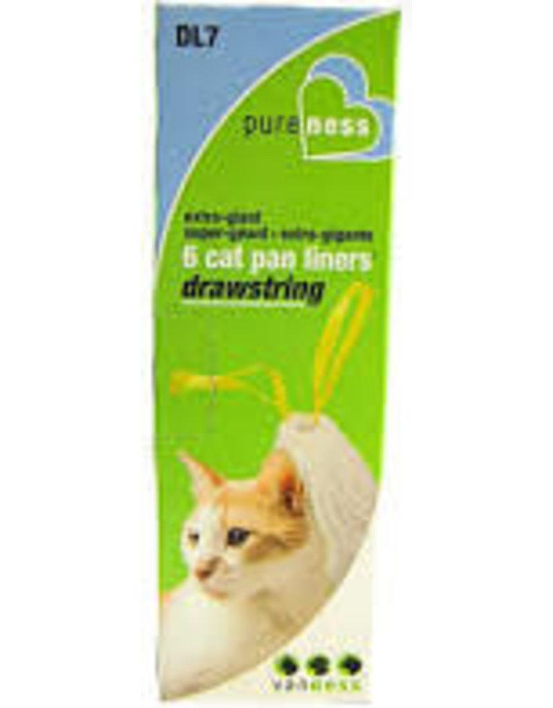 PURENESS/VAN NESS CAT PAN DRAWSTRING LINERS 6PK