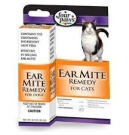 FOUR PAWS PRODUCTS LTD ALOE EAR MITE TRTMNT CAT .75OZ