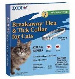 ZODIAC BREAKAWAY FLEA & TICK CAT COLLAR 7-MONTH