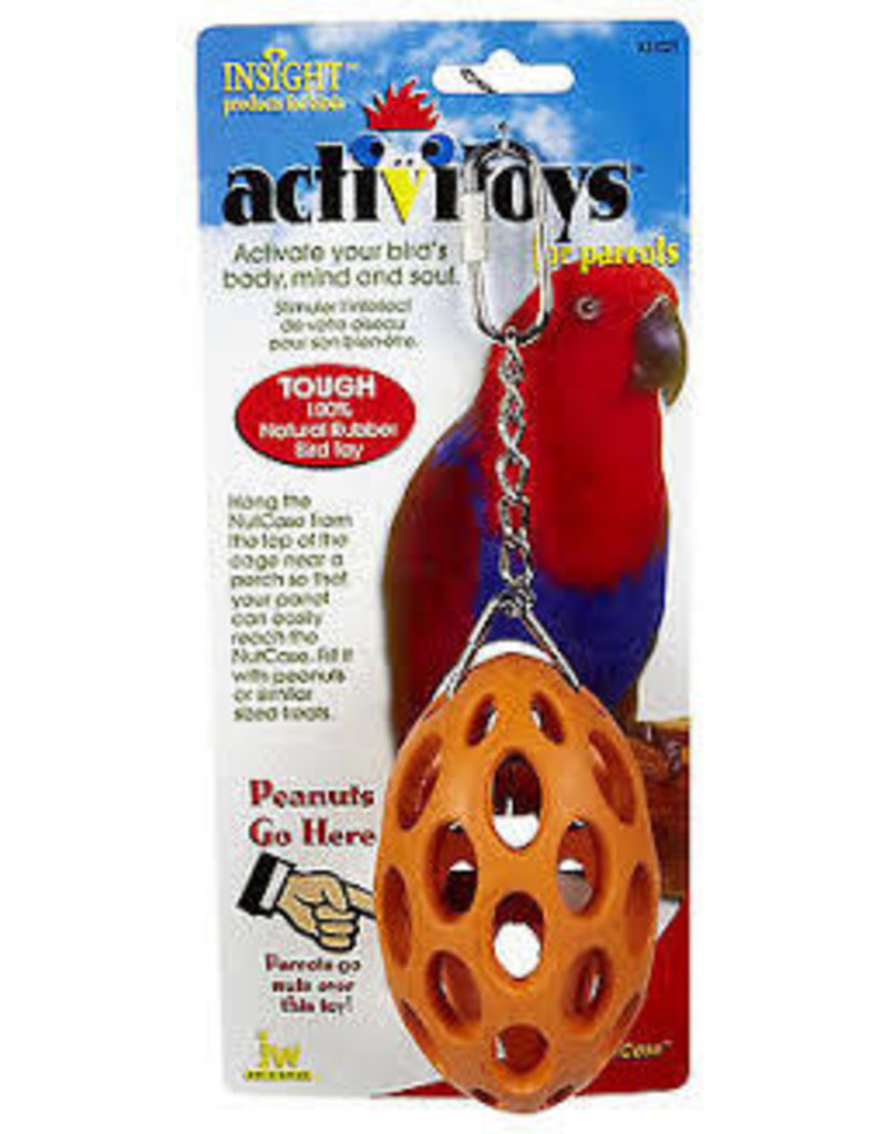 JW ACTIVITOYS NUT CASE BIRD TOY