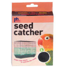 PREVUE PET PRODUCTS INC LARGE SEED CATCHER BLACK & WHITE