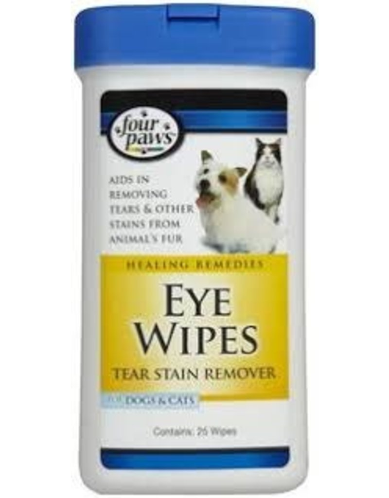 FOUR PAWS PET PRODUCTS DOG/CAT EYE WIPES 25CT
