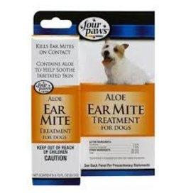 FOUR PAWS PET PRODUCTS ALOE EAR MITE TREATMENT DOG .75OZ