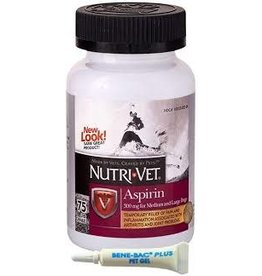 NUTRI-VET K9 ASPIRIN 300MG LG DOG 75CT 12